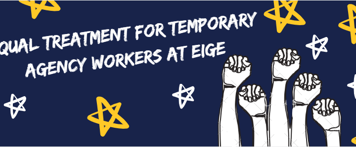 Kvietimas solidarizuotis su laikino įdarbinimo agentūrų darbuotojais Europos lyčių lygybės institute