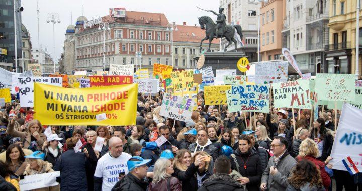 """Kroatija užsinorėjo streiko arba Kaip """"antrarūšiai"""" piliečiai suvienijo visuomenę"""