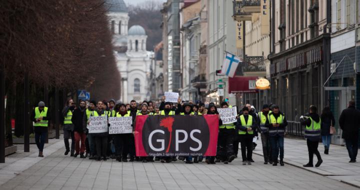 Gegužės 1-osios profesinės sąjungos reikalavimai ekonominės krizės akivaizdoje