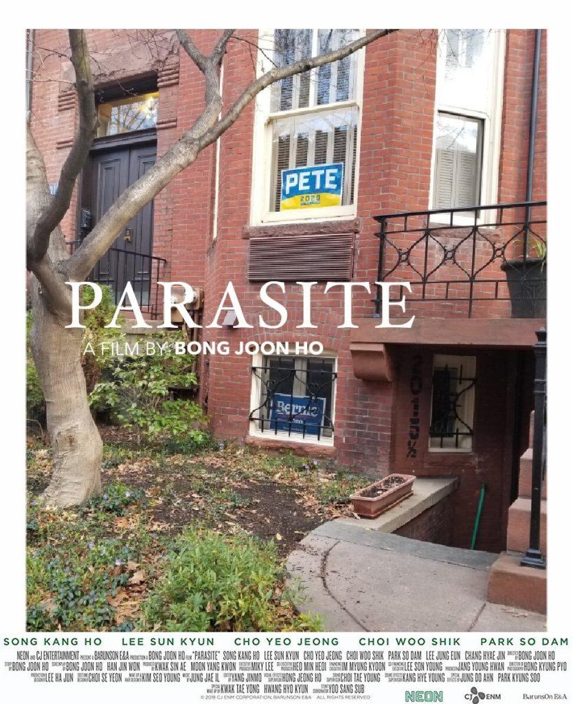"Filmo ""Parazitas"" plakatas"