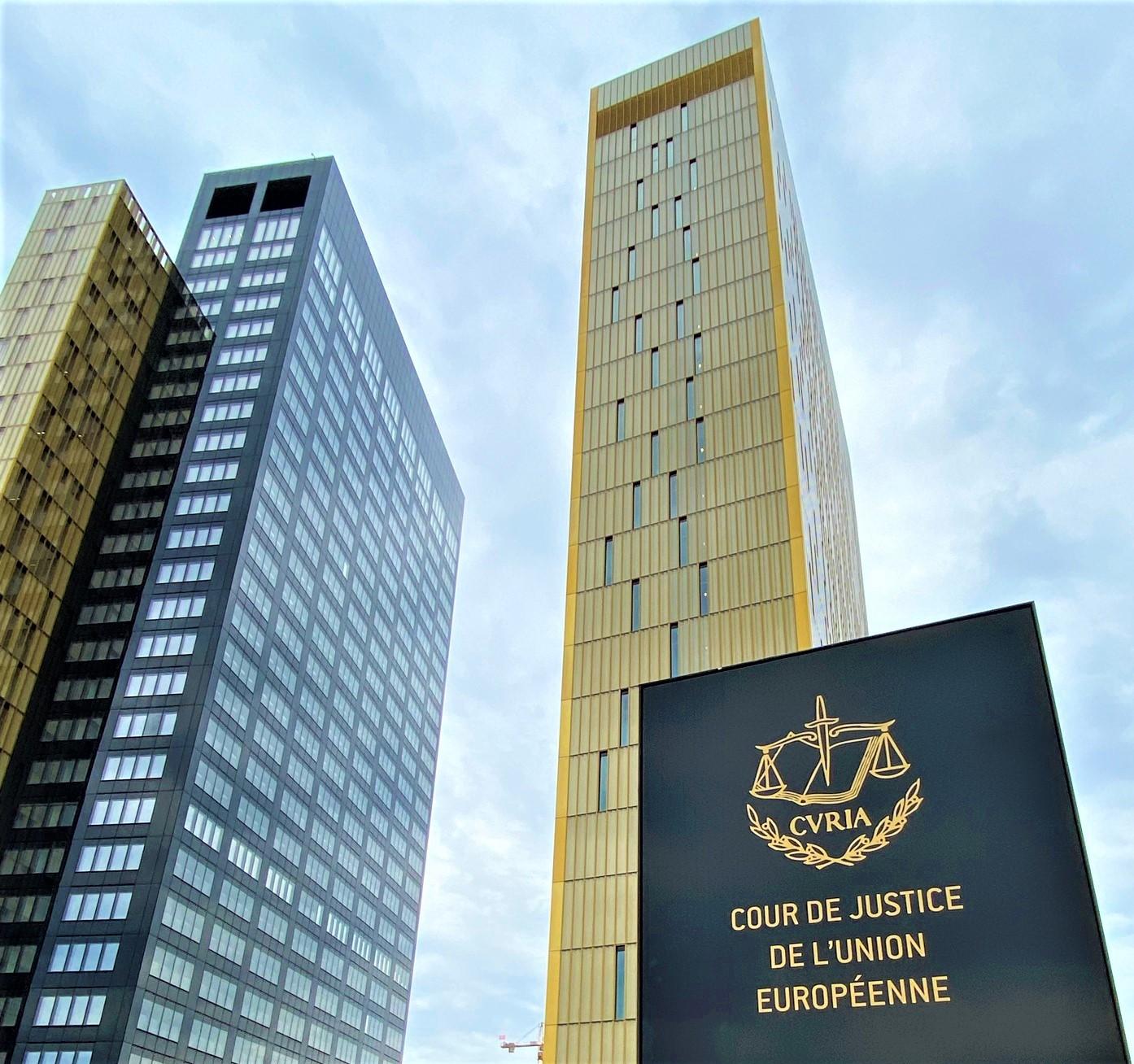 Europos Sąjungos Teisingumo Teismo būstinė Liuksemburge iš lauko