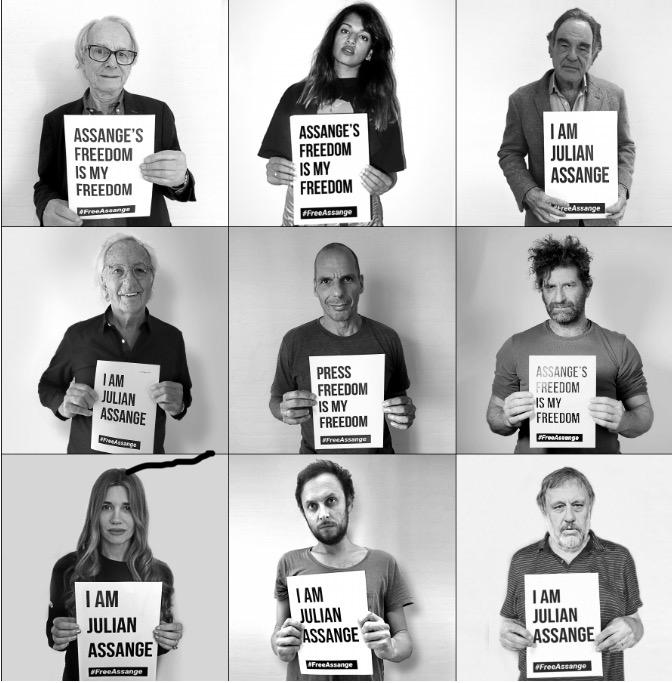 Įžymūs žmonės reiškia palaikymą Julianui Assange'ui